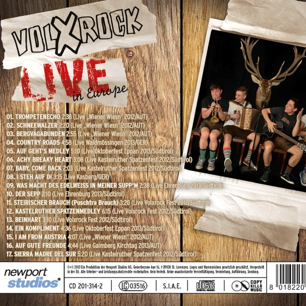 Volxrock Live in Europe Booklet4